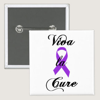 Viva la Cure - Crohns & Colitis Purple Ribbon Button