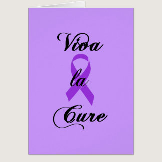 Viva la Cure - Crohns & Colitis Purple Ribbon Card