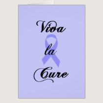 Viva la Cure - Lavender Ribbon General Cancer Card