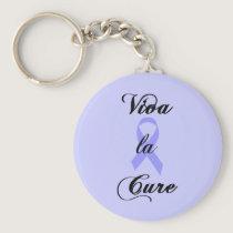 Viva la Cure - Lavender Ribbon General Cancer Keychain