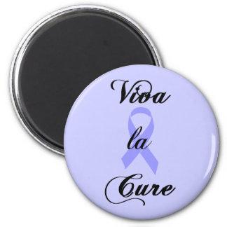 Viva la Cure - Periwinkle Ribbon 2 Inch Round Magnet
