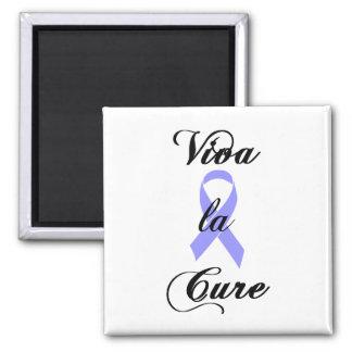 Viva la Cure - Periwinkle Ribbon 2 Inch Square Magnet
