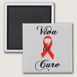 Viva la Cure Red Ribbon AIDS & HIV Magnet