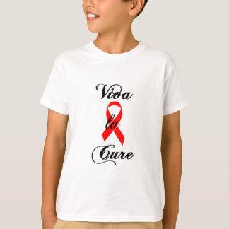 Viva la Cure Red Ribbon AIDS & HIV T-Shirt