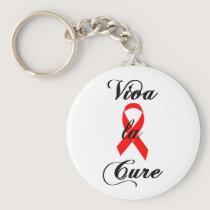 Viva la Cure - Red Ribbon Keychain
