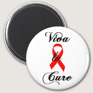 Viva la Cure - Red Ribbon Magnet