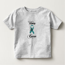 Viva la Cure - Teal Ribbon Toddler T-shirt