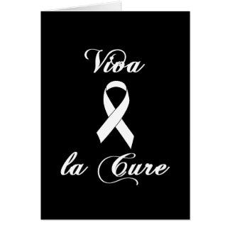 Viva la Cure - White Ribbon Card