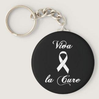 Viva la Cure - White Ribbon Keychain