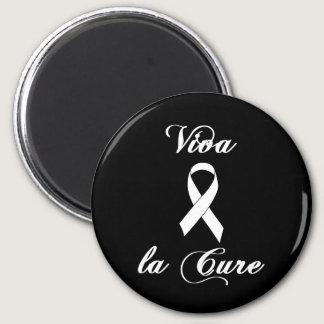 Viva la Cure - White Ribbon Magnet