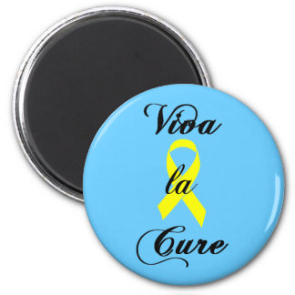 Viva la Cure - Yellow Ribbon 2 Inch Round Magnet