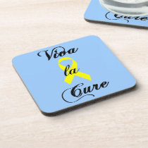 Viva la Cure - Yellow Ribbon Beverage Coaster