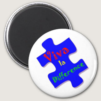 Viva la Difference Autism Puzzle Piece Magnet