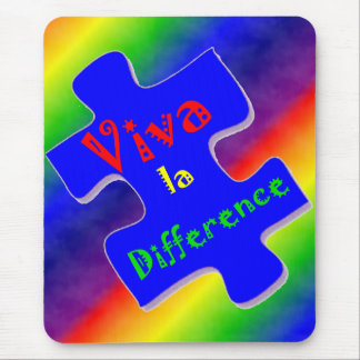 Viva la Difference Autism Puzzle Piece Mouse Pad