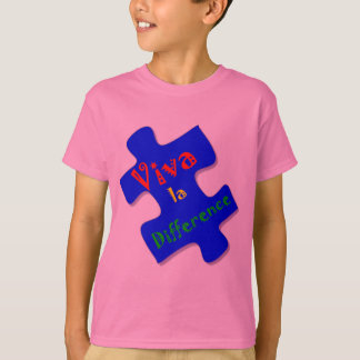 Viva la Difference Autism Puzzle Piece T-Shirt