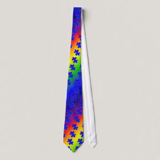 Viva la Difference Autism Puzzle Piece Tie
