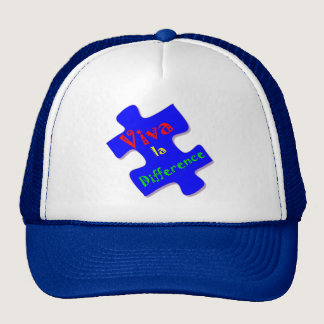 Viva la Difference Autism Puzzle Piece Trucker Hat