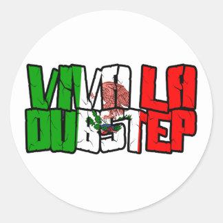 Viva La Dubstep Camisetas Stickers
