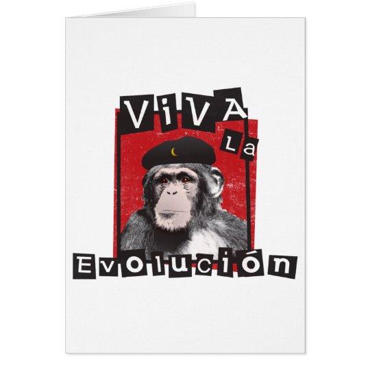 Viva la Evolucion Ape Card