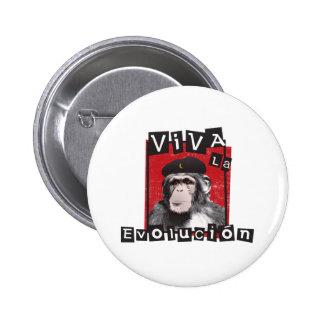 Viva la Evolucion Ape Pinback Button