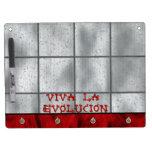 Viva La Evolucion Dry Erase Board With Keychain Holder