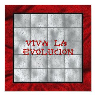 Viva La Evolucion 5.25x5.25 Square Paper Invitation Card