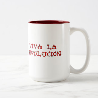 Viva La Evolucion Two-Tone Coffee Mug