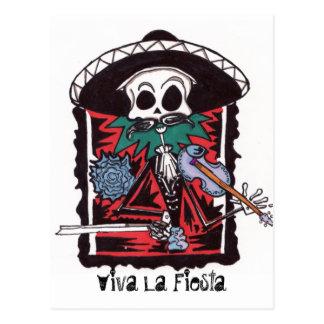 Viva La Fiestga Postcard