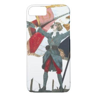 Viva la France Feminist Military Uniform and Flag iPhone 8/7 Case