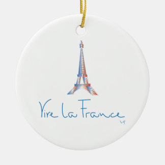Viva La France French Ceramic Ornament