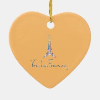 Viva La France French Ceramic Ornament