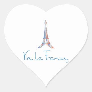 Viva La France French Heart Sticker