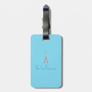 Viva La France French Luggage Tag