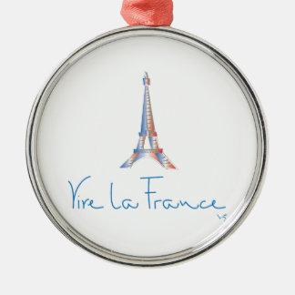 Viva La France French Metal Ornament