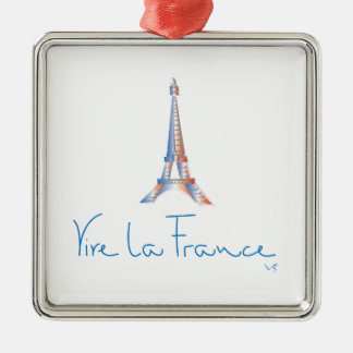 Viva La France French Metal Ornament