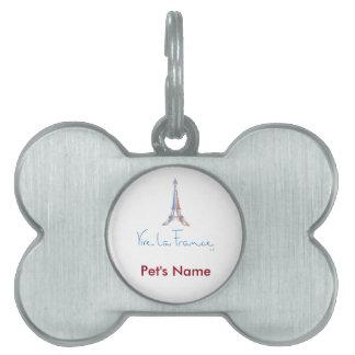 Viva La France French Pet ID Tag