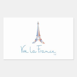 Viva La France French Rectangular Sticker