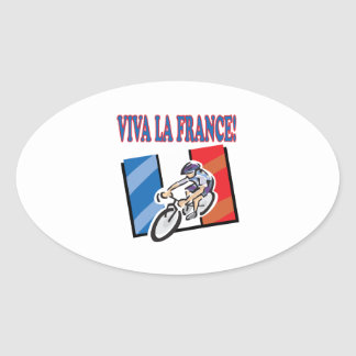 Viva La France Oval Sticker