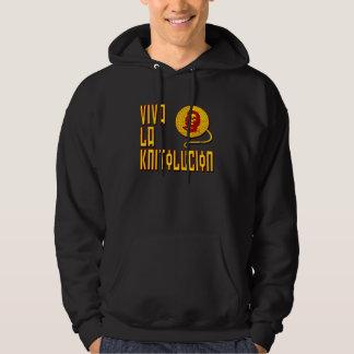 Viva la Knitolucion hooded sweatshirt