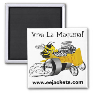 """""""Viva La Maquina"""" E-E Yellow Jacket Dragster Magne Magnet"""