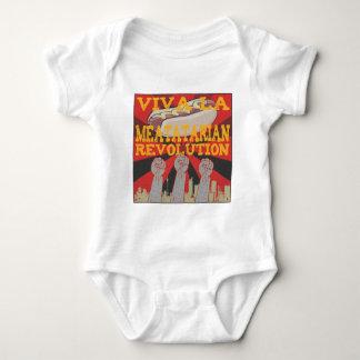 Viva la Meatatarian Revolution Baby Bodysuit