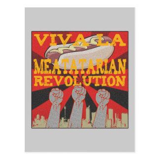 Viva la Meatatarian Revolution Postcard