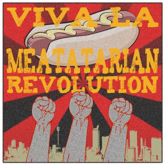 Viva La Meatatarian Revolution Statuette