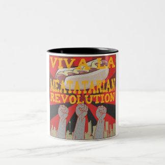 Viva la Meatatarian Revolution Two-Tone Coffee Mug