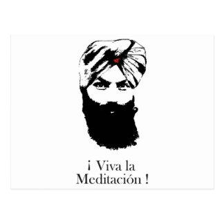 viva_la_meditacion_hari_karan postcard
