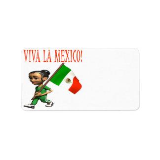 Viva La Mexico Label