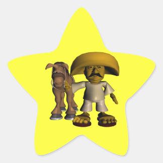 Viva La Mexico Star Sticker