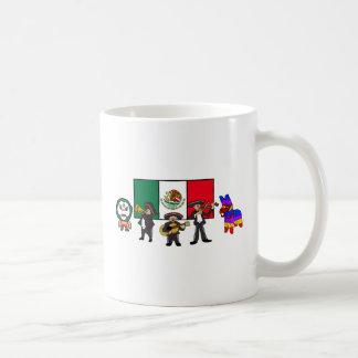 Viva la Mexico Wrestler Mariachi-Band Piñata Flag Coffee Mug
