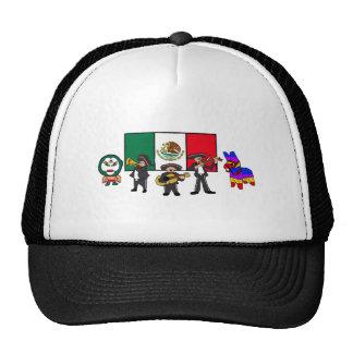 Viva la Mexico Wrestler Mariachi-Band Piñata Flag Trucker Hat