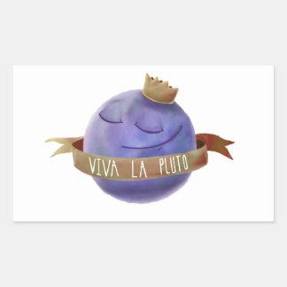 Viva La Pluto Rectangular Sticker